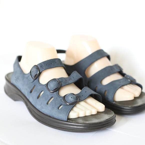 01e39860ea0d0 Clarks Shoes - Clarks Springers Sunbeat Blue Leather Sandals 11
